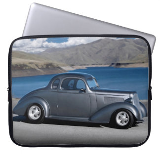 1935 Chevy Master Coupe Hot Rod Scenic Lake Laptop Sleeve