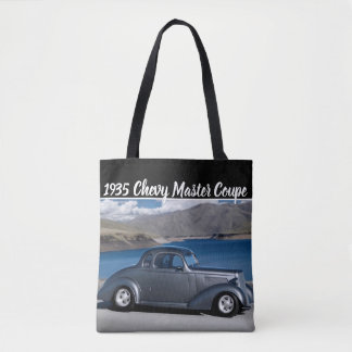1935 Chevy Master Coupe Hot Rod Scenic Lake Tote Bag