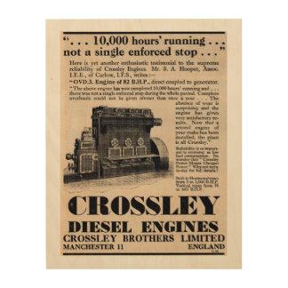 1935 Crossley Diesel Engine Advert Wood Print