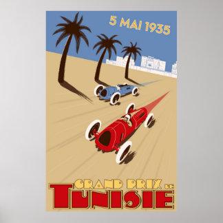 1935 Grand Prix Tunisie Poster