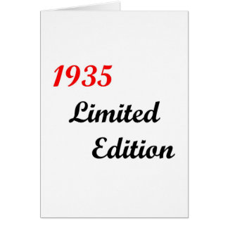 1935 Limited Edition Card