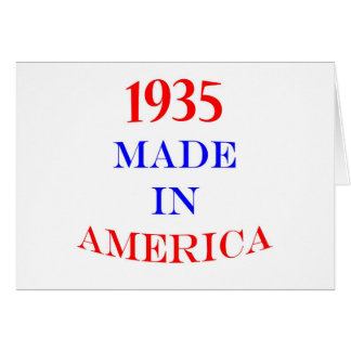 1935 Made in America Card