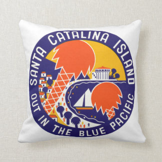 1935 Santa Catalina Island Throw Pillow