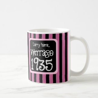 1935 Vintage or Any Birthday Year STRIPES S05Z Coffee Mug