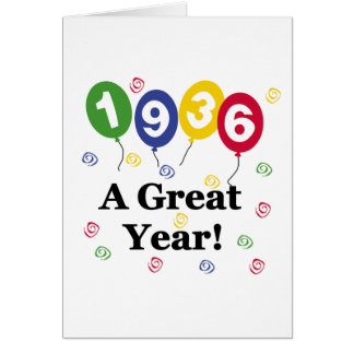 1936 A Great Year Birthday Card