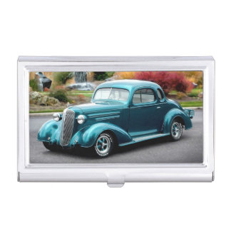 1936 Chevy Hot Rod Coupe Chevrolet Classic Car Business Card Holder