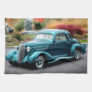1936 Chevy Hot Rod Coupe Chevrolet Classic Car Kitchen Towel