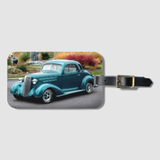 1936 Chevy Hot Rod Coupe Chevrolet Classic Car Luggage Tag