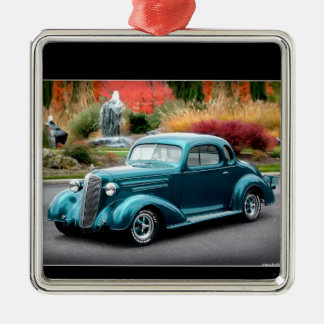 1936 Chevy Hot Rod Coupe Chevrolet Classic Car Metal Ornament
