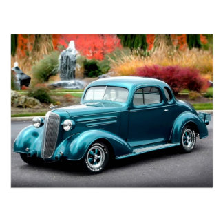 1936 Chevy Hot Rod Coupe Chevrolet Classic Car Postcard