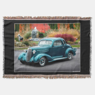 1936 Chevy Hot Rod Coupe Chevrolet Classic Car Throw Blanket