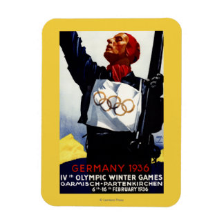 1936 Olympic Winter Games Advertisement Poster Rectangular Photo Magnet