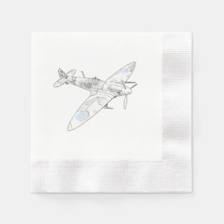 1936 WWII Spitfire Fighter Aircraft-color Disposable Napkins