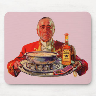 1937 butler with tray and Golden Wedding whiskey Mouse Pad