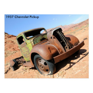 1937 Chevy Pickup in Arizona Desert Postcard