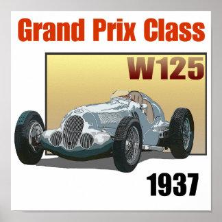 1937 Grand Prix Class W125 Poster