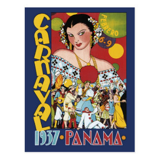 1937 Panama Carnival Postcard