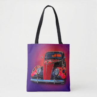 1937 VINTAGE CAR TOTE BAG
