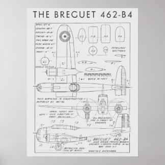 1938 Aviation Airplane Breguet 462-B4 Art Print