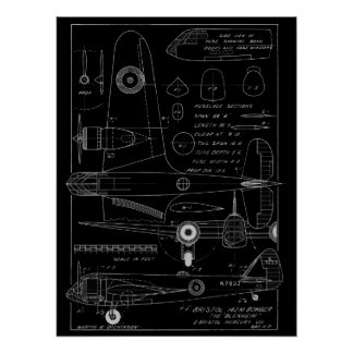 1938 Aviation Airplane Bristol Bomber Art Print