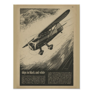 1938 Aviation Airplane Howard DGA-11 Art Print