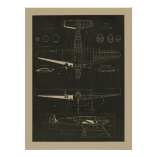 1938 Aviation Magazine Airplane Design Art Print