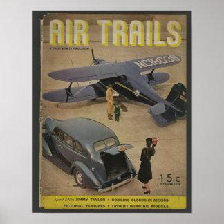 1938 Aviation Magazine Cover Art Print