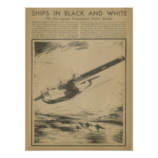 1938 Aviation Patrol Bomber Airplane Art Print