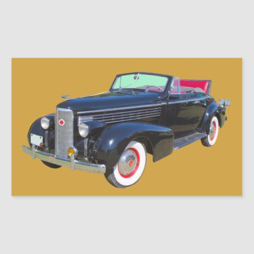 1938 Cadillac Lasalle luxury Car Rectangular Stickers