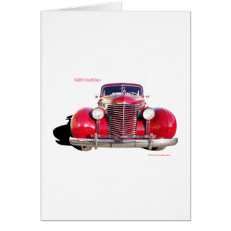 "1938 Cadillac ""red"" Card"