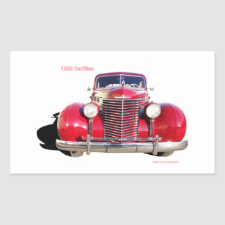 "1938 Cadillac ""red"" Rectangle Sticker"