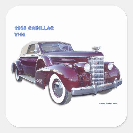 1938 CADILLAC V-16 STICKERS