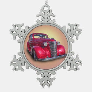 1938 CHEVROLET PEWTER SNOWFLAKE ORNAMENT