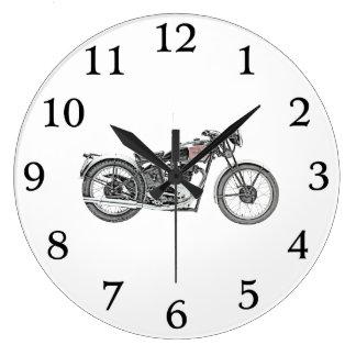 1938 Excelsior Warrior Motorcycle Large Clock