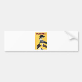 1938 Mossant French Hats Advertising Poster Bumper Sticker
