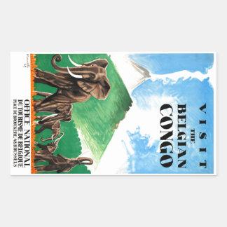 1939 Belgian Congo Elephants Travel Poster