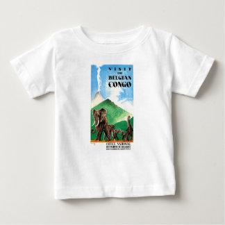 1939 Belgian Congo Elephants Travel Poster Baby T-Shirt
