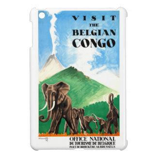 1939 Belgian Congo Elephants Travel Poster iPad Mini Cover
