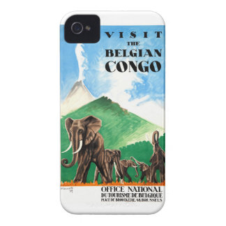 1939 Belgian Congo Elephants Travel Poster iPhone 4 Cover