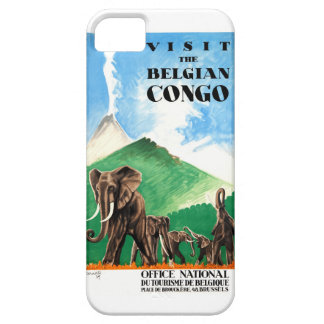 1939 Belgian Congo Elephants Travel Poster iPhone 5 Cover