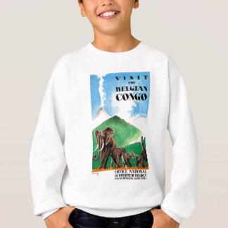 1939 Belgian Congo Elephants Travel Poster Sweatshirt