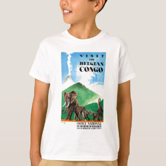1939 Belgian Congo Elephants Travel Poster T-Shirt