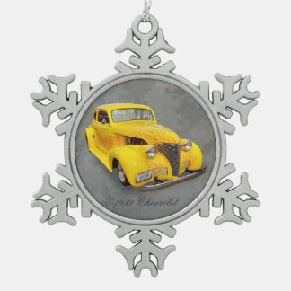 1939 CHEVROLET PEWTER SNOWFLAKE ORNAMENT