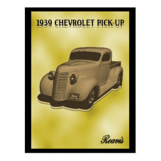 1939 CHEVROLET  PICKUP POSTCARD