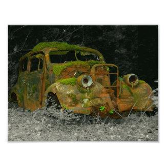 1939 Chevrolet Wreck Photographic Print