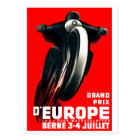 1939 European Grand Prix Motorcycle Racing Poster Postcard