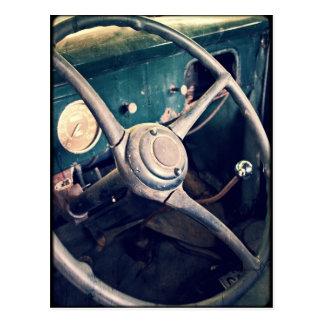 1939 Ford Steering Wheel Postcard
