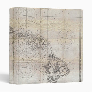 1939 Japanese Map of Hawaii Pearl Harbor 3 Ring Binder