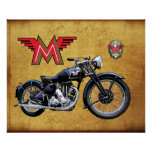 1939 MATCHLESS MOTORCYCLE POSTER