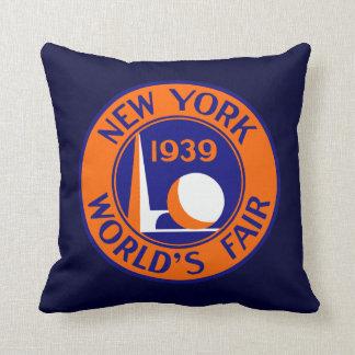 1939 New York World's Fair Throw Pillow